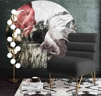 Tov Furniture Kelly Slub Grey Velvet Chair