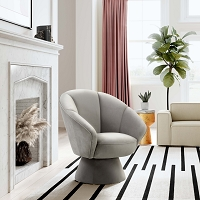 Tov Furniture Allora Grey Accent Chair
