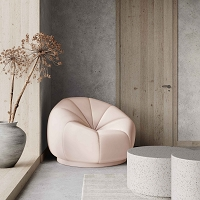 Tov Furniture Marshmallow Peche Lounge Chair