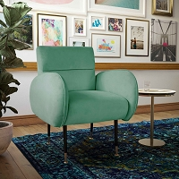 Tov Furniture Babe Mint Green Velvet Chair