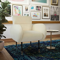 Tov Furniture Babe Custard Velvet Chair