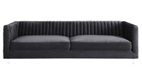 Tov Aviator Grey Velvet Sofa