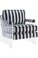 Serena Black and White Velvet Lucite Chair | Tov Furniture