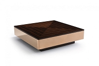 VIG Furniture Modrest Larice Modern Square Ebony and Rosegold Coffee Table