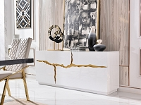 VIG Furniture Modrest Aspen Modern White and Gold Buffet