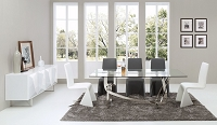 VIG Furniture Modrest Adelaide Modern Stainless Steel and Glass Dining Table