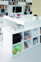 VIG Furniture Modrest Soul Modern Contemporary Office Desk with Attached Cabinet