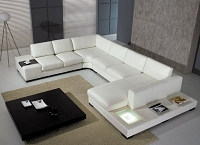 VIG Furniture Divani Casa T35 Modern Bonded Leather Sectional Sofa With Light