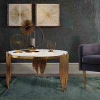 Tov Furniture Waterfall Marble Cocktail Table