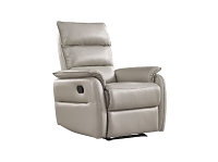 Allen Recliner Armchair Light Grey Faux Leather | Whiteline