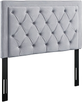 Tov Furniture Nacht Full Headboard Grey Velvet