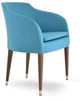 Buca ArmChair Wood Base Fabric| SohoConcept