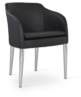 Buca Arm Chair Metal Base Leather | SohoConcept