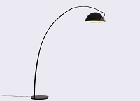Calvin Floor Lamp Black Aluminum | Whiteline