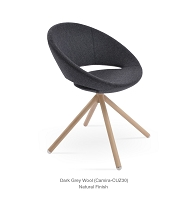 Crescent Stick Dining Chair Fabric - Natural Veneer Base | Soho Concept