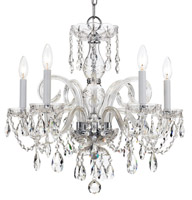 Crystorama Traditional Crystal 5 Light Spectra Crystal Chrome Chandelier