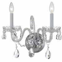Crystorama Traditional Crystal 2 Light Spectra Crystal Chrome Sconce