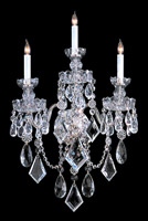 Crystorama Traditional Crystal 3 Light Chrome Crystal Sconce