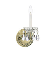 Crystorama Traditional Crystal Spectra Crystal Brass Sconce