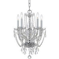 Crystorama Traditional Crystal 5 Light Swarovski Crystal Mini Chandelier