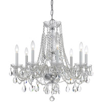 Crystorama Traditional Crystal 8 Light Swarovski Crystal Chrome Chandelier