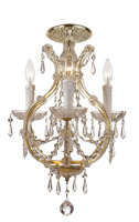Crystorama Maria Theresa 4 Light Elements Crystal Gold Ceiling