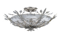 Crystorama Primrose 6 Light Faceted Crystal Silver Semi-Flush
