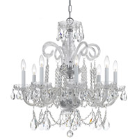 Crystorama Traditional Crystal 8 Light Spectra Crystal Chrome Chandelier