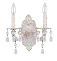 Crystorama Paris Market 2 Light Spectra Crystal White Sconce