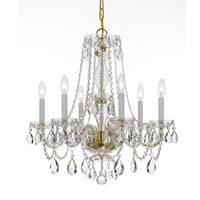 Crystorama Traditional Crystal 6 Light Swarovski Crystal Brass Chandelier