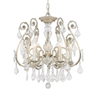 Crystorama Regis 6 Light Crystal Silver Semi-Flush