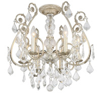 Crystorama Regis 6 Light Crystal Silver Ceiling