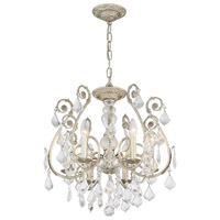 Crystorama Regis 6 Light Spectra Crystal Silver Semi-Flush