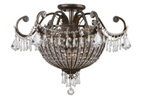 Crystorama Vanderbilt 9 Light Semi-Flush