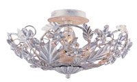 Crystorama Paris Market 6 Light Antique White Semi-Flush
