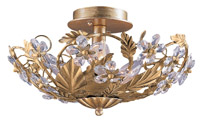 Crystorama Paris Market 6 Light Gold Semi-Flush