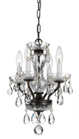 Crystorama Traditional Swarovski Crystal 4 Light Chrome Mini Chandelier