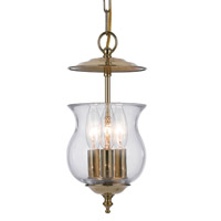 Crystorama Ascott 3 Light Polished Brass Lantern