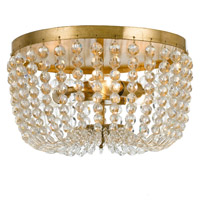 Crystorama Rylee 3 Light Antique Gold Ceiling