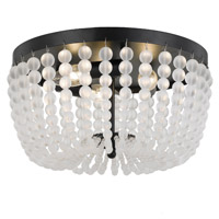 Crystorama Rylee 3 Light Matte Black Ceiling