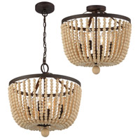 Crystorama Rylee 4 Light Forged Bronze Ceiling