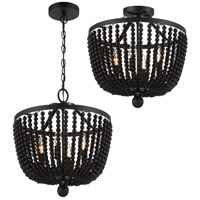 Crystorama Rylee 4 Light Matte Black Ceiling