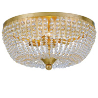 Crystorama Rylee 4 Light Antique Gold Ceiling Lamp