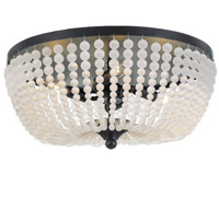 Crystorama Rylee 4 Light Matte Black Ceiling Lamp