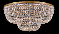 Crystorama 748-OB-CL-SAQ 24 Light Spectra Crystal Ceiling