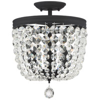 Crystorama 783-BF-CL-S Archer 3 Light Swarovski Black Ceiling
