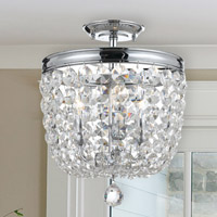 Crystorama Archer 3 Light Spectra Crystal Ceiling