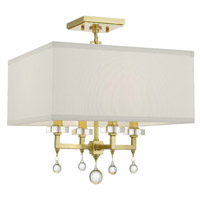 Crystorama 8105-AG_CEILING Paxton 4 Light Gold Ceiling