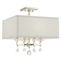 Crystorama 8105-PN_CEILING Paxton 4 Light Nickel Ceiling