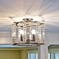 Crystorama Carson 4 Light Nickel Ceiling